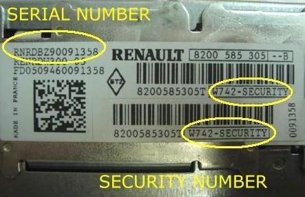 free renault clio radio code generator