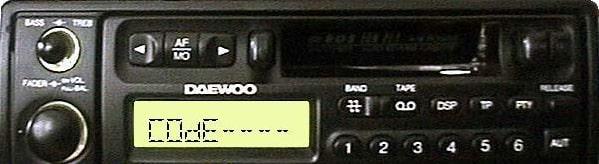 Daewoo Radio Code