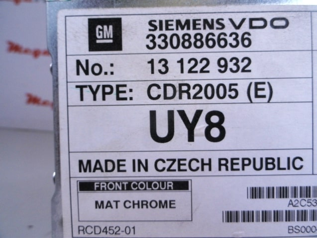 Siemens VDO Radio Code