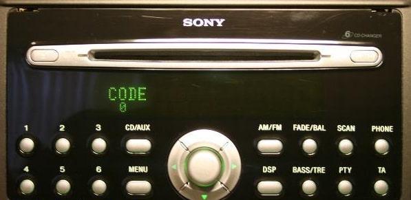 Sony Radio Code