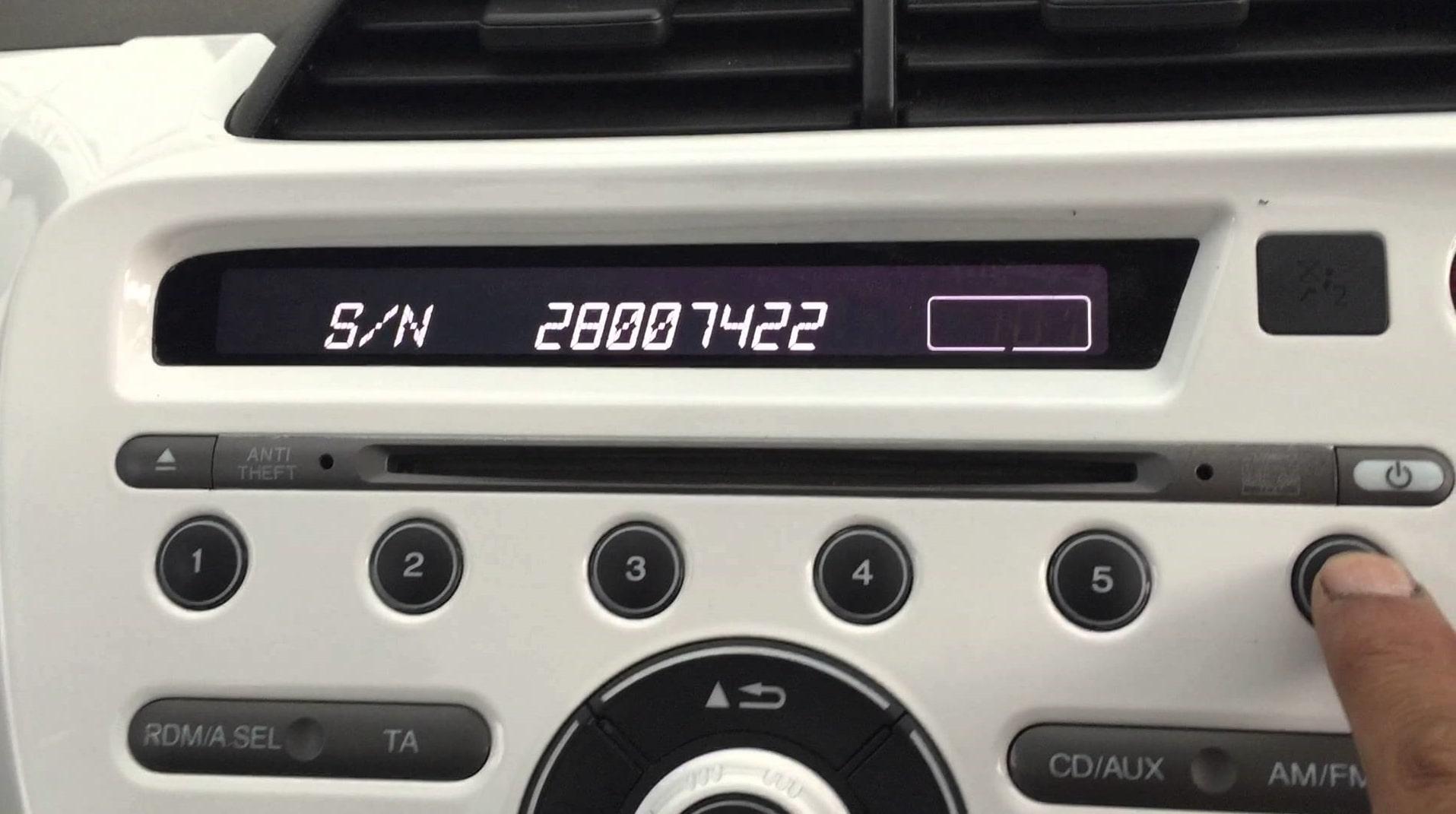Honda Fit Radio Code
