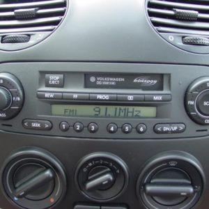 VW Beetle Radio Code