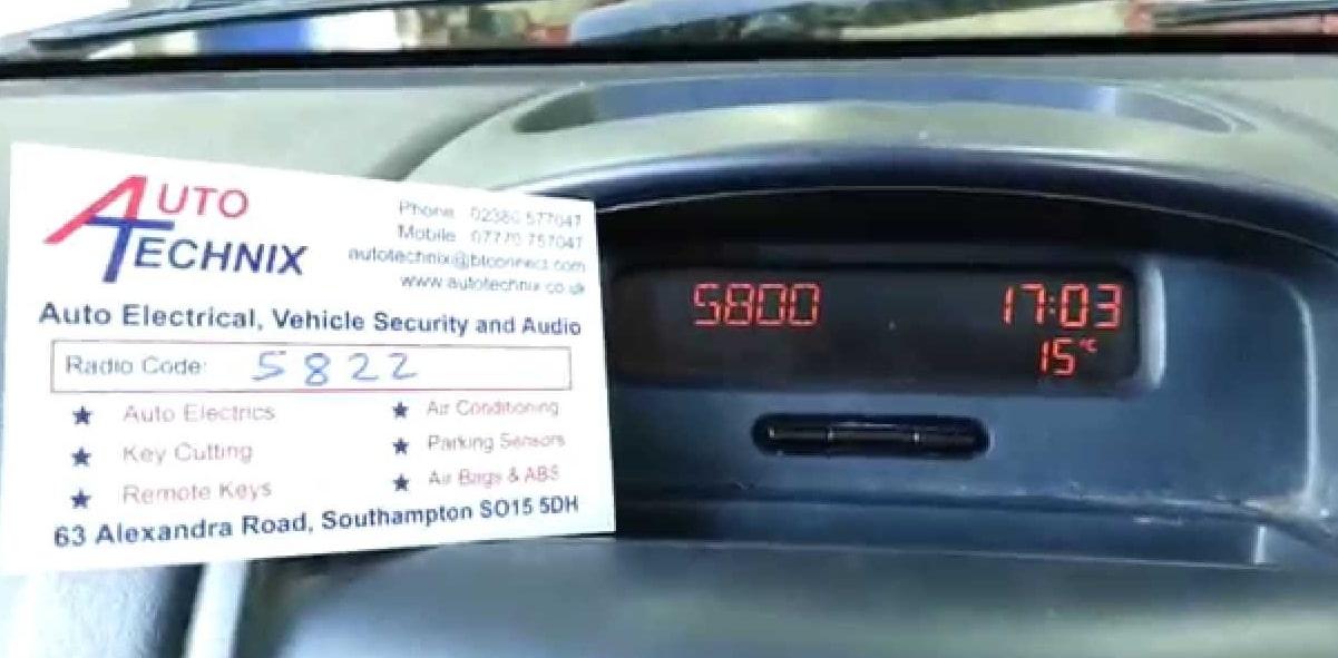 Renault Modus Radio Code