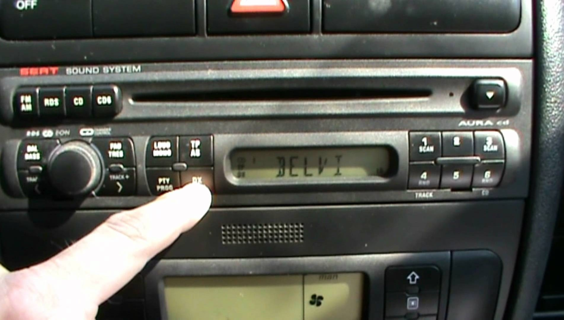 Seat Aura Oem car radio stereo CD player Head Unit With Code Rds Cd Changer Cont