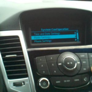 Chevrolet Cruze Radio Code