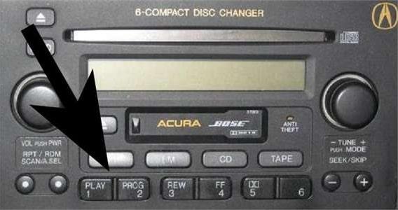 Enter Acura Radio Code