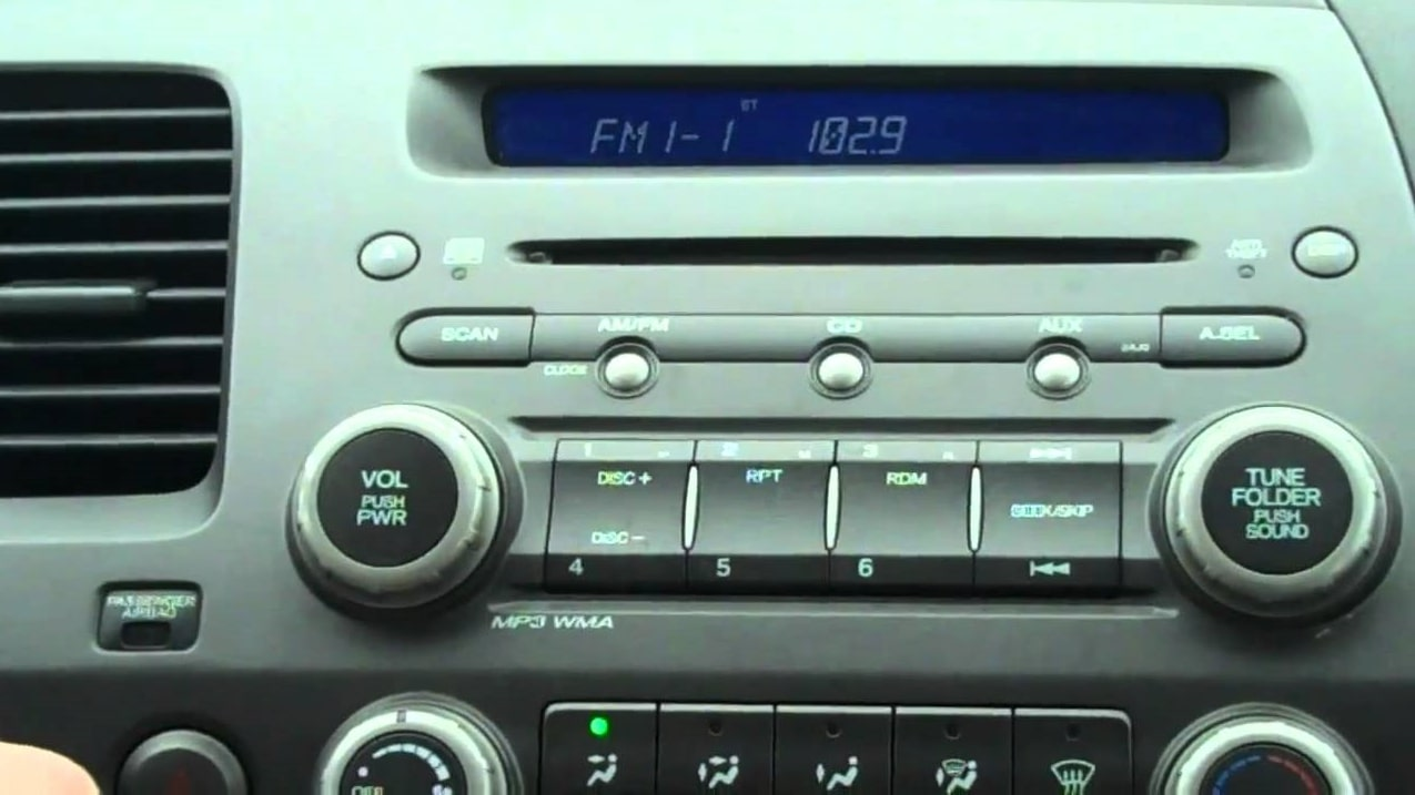 2008 Honda Civic Radio Code