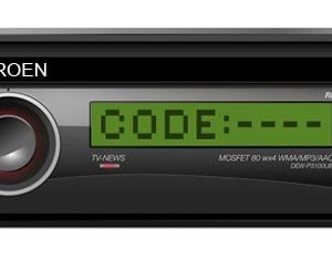 Citroen Picasso Radio Code