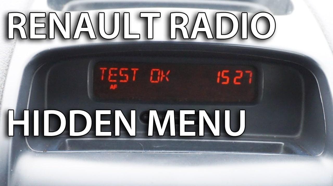 Enter Renault Radio Code