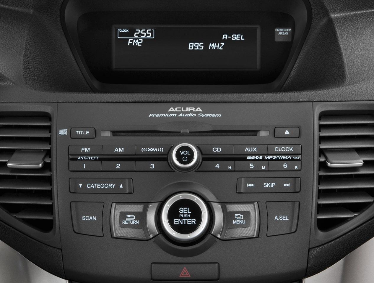 How to retrieve radio code on 2012 acura tsx